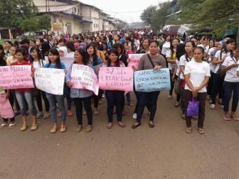 Mogok buruh perempuan di KBN Cakung 31.10