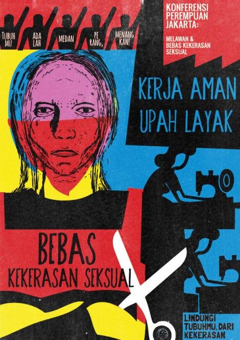 Foto: Poster Konferensi Perempuan Jakarta melawan kekerasan seksual 2013